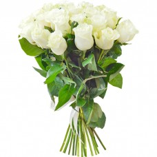Букет из 19 белых роз